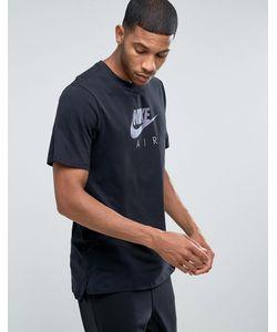 Nike | Черная Футболка Air Heritage Virus Ink 847521-010