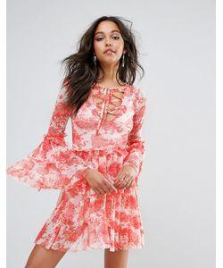 boohoo | Ярусное Платье С Цветочным Принтом