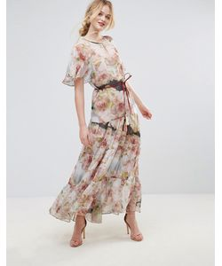 Traffic People | Платье Макси С Цветочным Принтом И Поясом