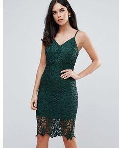 AX Paris   Кружевное Облегающее Платье Миди