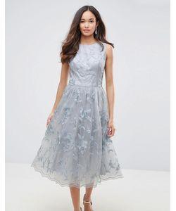 Chi Chi London | Кружевное Платье Миди С 3d Цветами