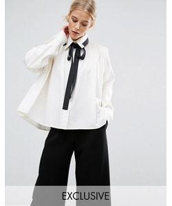 Zacro | Рубашка Со Складками И Контрастной Завязкой