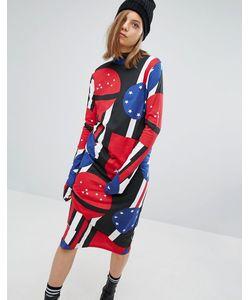 Cheap Monday | Платье С Высоким Воротом И Принтом