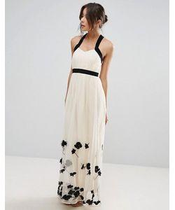 Little Mistress | Платье Макси С Цветочной Аппликацией
