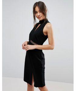 Adelyn Rae | Платье С Высокой Горловиной И Разрезом