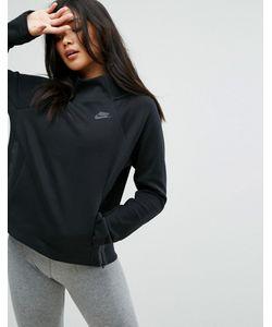 Nike | Флисовый Свитшот С Высоким Воротом И Молниями По Бокам Tech
