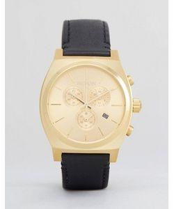 Nixon | Часы С Хронографом И Кожаным Ремешком Time Teller