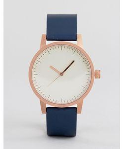 Simple Watch Company | Часы С Темно-Синим Кожаным Ремешком