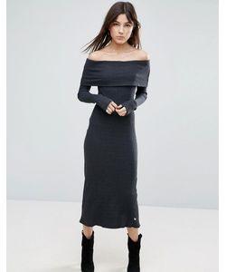 NYTT   Long Sleeve Off The Shoulder Maxi Dress