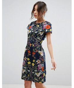Uttam Boutique | Платье С Цветочным Принтом