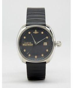 Vivienne Westwood | Часы С Черным Кожаным Ремешком