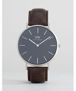 Daniel Wellington | Классические Часы С Кожаным Ремешком И Серебристым Циферблатом Диаметром 40 Мм