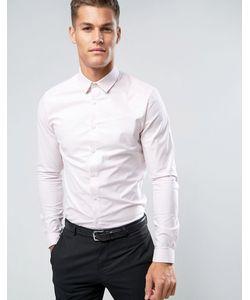 Asos | Эластичная Оксфордская Рубашка Приталенного Кроя В Полоску
