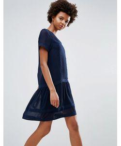 ICHI | Цельнокройное Платье С Оборкой