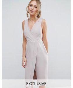 Closet London | Платье Миди С V-Образным Вырезом И Запахом Closet