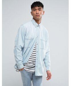 Cheap Monday | Бледно-Синяя Джинсовая Рубашка С Рваной Отделкой