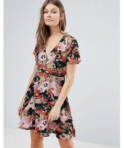 Influence   Чайное Платье С Цветочным Принтом