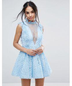 MISSGUIDED | Короткое Приталенное Кружевное Платье С Оборками