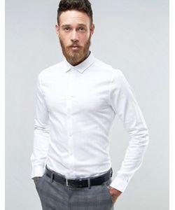 Asos | Рубашка Скинни С Узором В Елочку