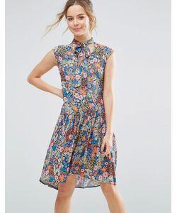 Closet London | Приталенное Платье С Цветочным Принтом