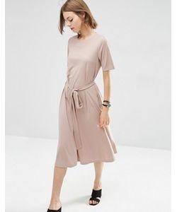 Asos | Платье Миди С Завязкой Спереди