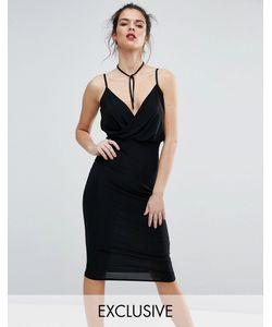 Club L | Платье Миди На Бретелях С Запахом