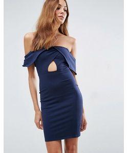 Asos | Платье Мини С Лифом-Бандо И Вырезом На Талии