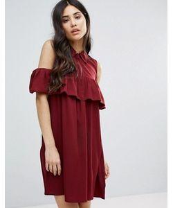 AX Paris | Cold Shoulder Frill Mini Smock Dress