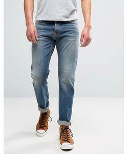 Nudie Jeans Co | Выбеленные Джинсы Цвета Индиго Steady Eddie