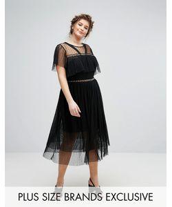 Truly You   Платье Из Тюля С Люверсами И Рюшами