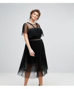Truly You | Платье Из Тюля С Люверсами И Рюшами