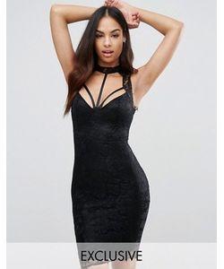 NaaNaa | Кружевное Платье-Футляр Миди С Отделкой Лямками