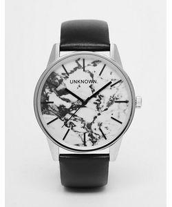 UNKNOWN | Часы С 39 Мм Мраморным Циферблатом И Кожаным Ремешком