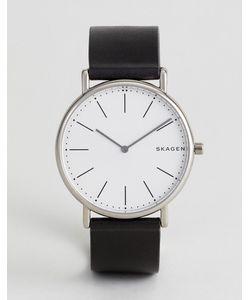 Skagen | Черные Часы С Кожаным Ремешком Skw6419 Signatur