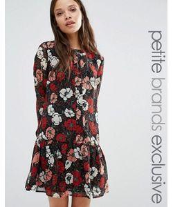 Fashion Union Petite   Короткое Приталенное Платье С Цветочным Принтом