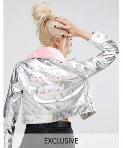 Lazy Oaf | Свободная Куртка С Воротником Из Искусственного Меха