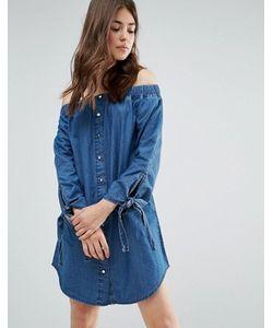 Parisian | Джинсовое Платье С Открытыми Плечами
