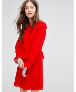 Miss Selfridge | Платье Из Сетки Добби С Оборками