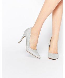 Head Over Heels | Серебристые Туфлилодочки На Каблуке By Dune Addyson