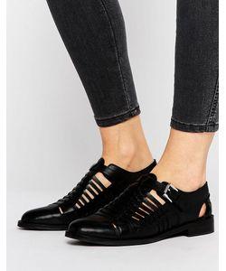 Asos | Плетеные Кожаные Туфли На Плоской Подошве Monument