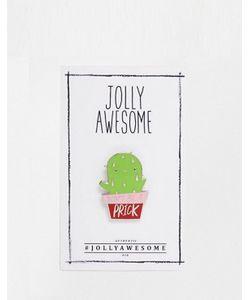 Jolly Awesome | Эмалированный Значок С Кактусом