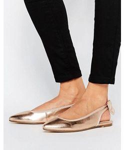 London Rebel | Tieback Point Flat Shoes