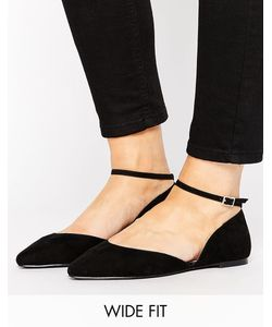 Faith Wide Fit | Al Ankle Strap Flat Shoes
