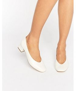 Carvela   Белые Кожаные Туфли На Каблуке Средней Высоты Antidote
