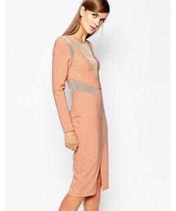 8th Sign | Облегающее Платье С Сетчатой Вставкой The
