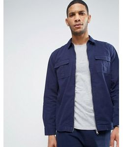 Nicce London's | Nicce London Zip Over Shirt In Navy In Reg Fit