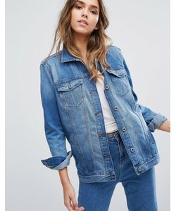 Only | Удлиненная Джинсовая Куртка Из Плотного Денима