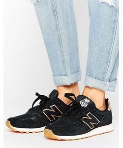 New Balance | Черные Кроссовки С Золотисто-Розовой Отделкой 373