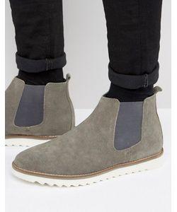 Asos | Замшевые Ботинки Челси На Белой Подошве
