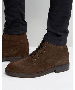Asos | Кожаные Ботинки Броги С Массивной Подошвой